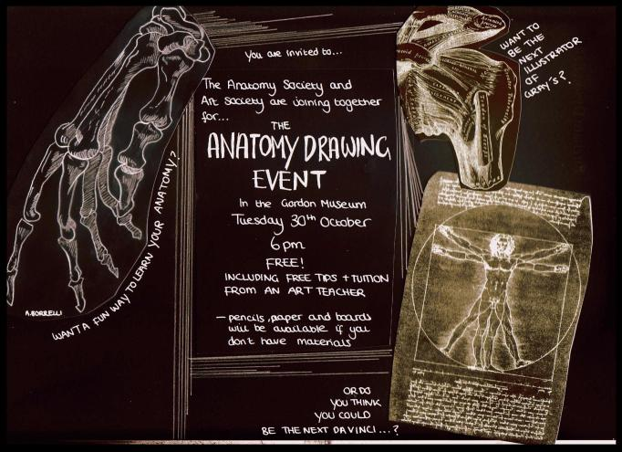 The Anatomy Drawing Event - Tuesday 30th October 6pm