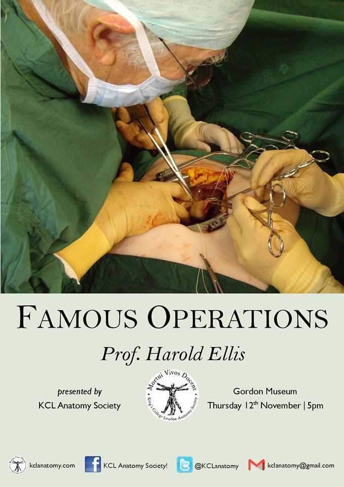 Professor Harold Ellis Famous Operations Kcl Anatomy Society